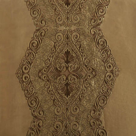 Chai Embroidered Faux Silk Swatch