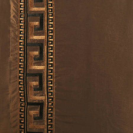 Greco Copper Embroidered Faux Silk Swatch