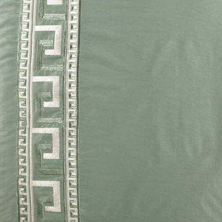 Greco Robins Egg Embroidered Faux Silk Swatch
