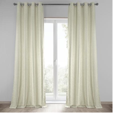 Barley Grommet Heavy Faux Linen Curtain