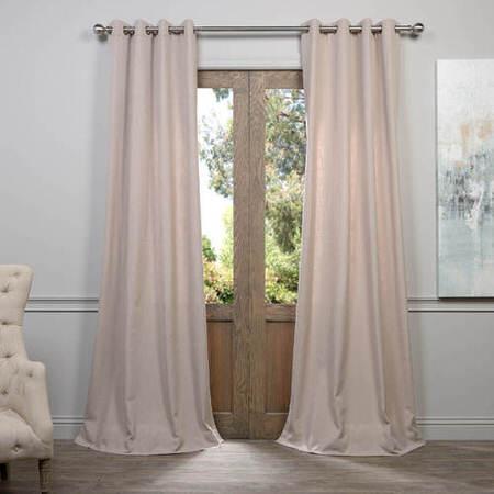 Latte Grommet Heavy Faux Linen Curtain