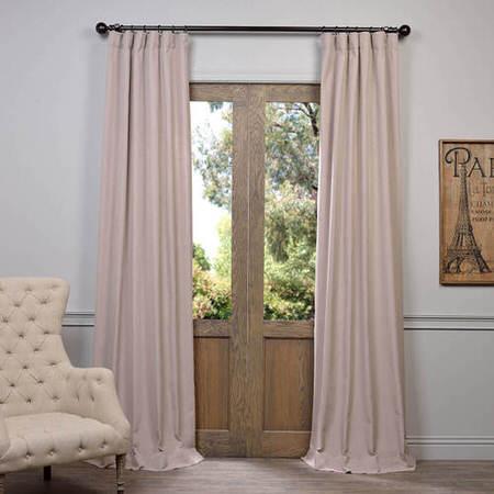 Latte Heavy Faux Linen Curtain