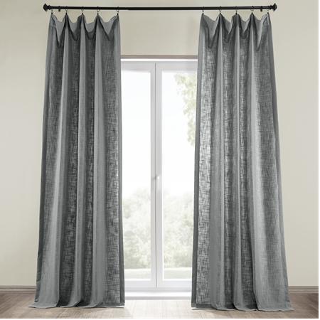 Pewter Grey Heavy Faux Linen Curtain