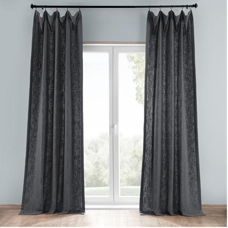 Slate Grey Heavy Faux Linen Curtain