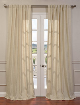 Hilo Natural Linen Blend Solid Curtain