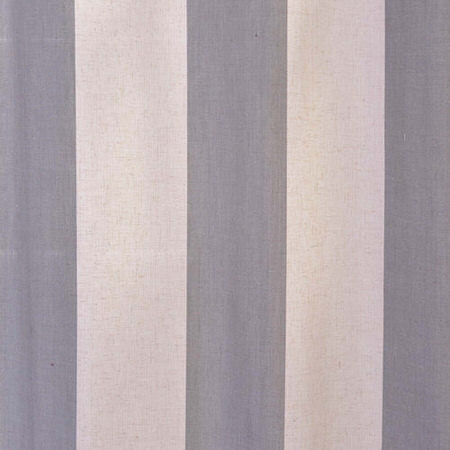 Del Mar Gray Linen Blend Stripe Swatch