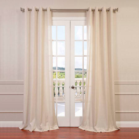 Sand Faux Linen Grommet Semi Sheer Curtain