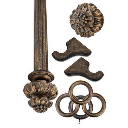Royal Fancy Antique Bronze Prepacked Wooden Rod Set
