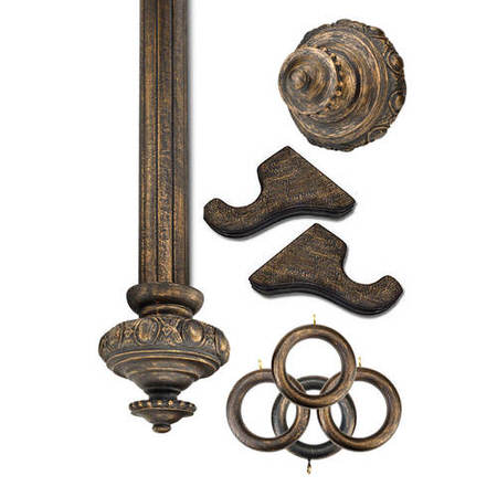 Sussex Antique Bronze Prepacked Wooden Rod Set