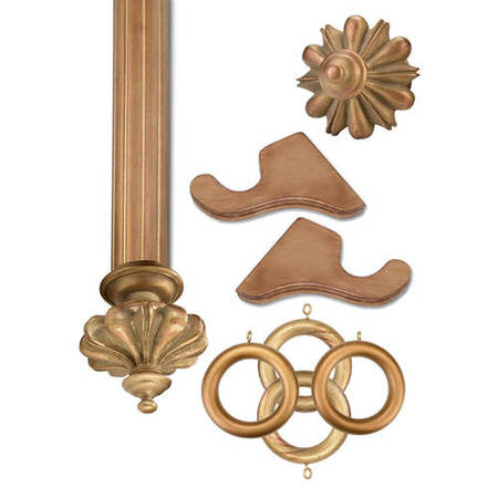 Istanbul Historical Gold Prepacked Wooden Rod Set