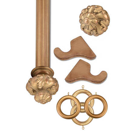 Crown Historical Gold Prepacked Wooden Rod Set