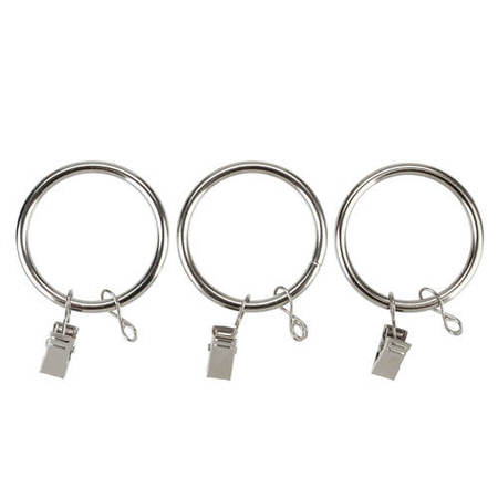 Metal Curtain Rings For 1 1/2 Diameter Metal Curtain Rods - PKG of 14