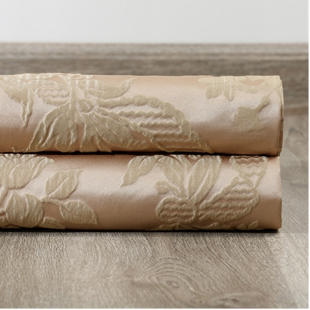 Magdelena Beige & Gold Faux Silk Jacquard Swatch