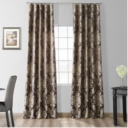 Magdelena Slate & Silver Faux Silk Jacquard Curtain
