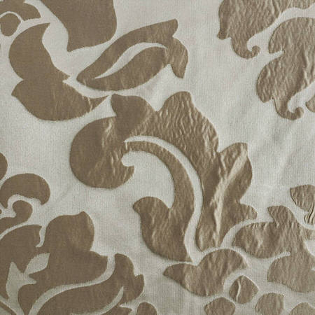 Astoria Tan & Ecru Faux Silk Jacquard Swatch