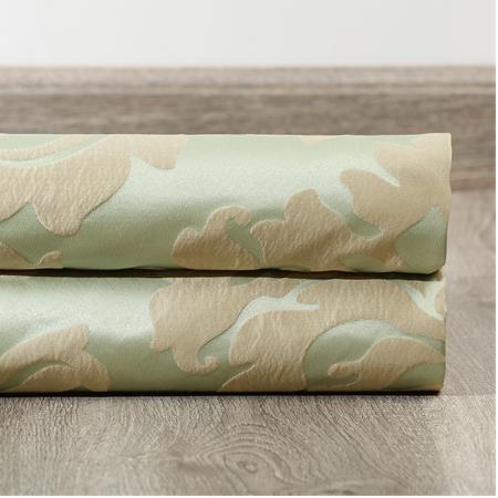 Astoria Jade & Taupe Faux Silk Jacquard Swatch