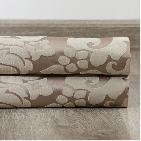 Astoria Bronze & Taupe Faux Silk Jacquard Swatch