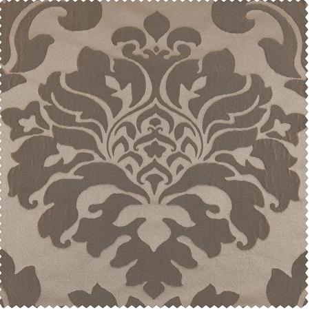 Astoria Taupe & Mushroom Faux Silk Jacquard Swatch