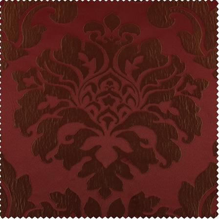 Astoria Red & Bronze Faux Silk Jacquard Swatch