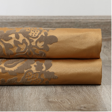 Magdelena Olympic Bronze Faux Silk Jacquard Swatch