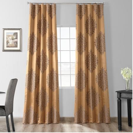 Magdelena Olympic Bronze Faux Silk Jacquard Curtain