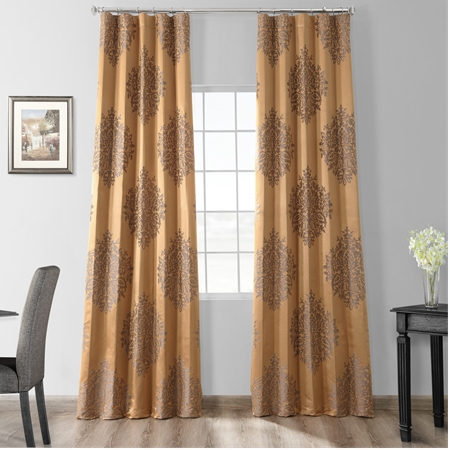 Magdelena Olympic Bronze Faux Silk Jacquard Curtain