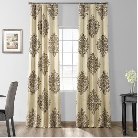 Magdelena Silver Dew Faux Silk Jacquard Curtain