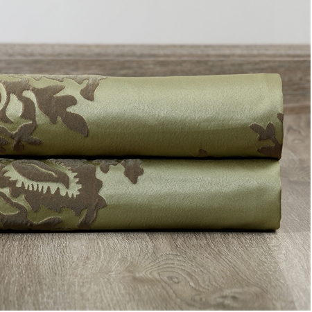 Magdelena Mantis Green Faux Silk Jacquard Swatch
