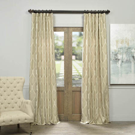 Beech Natural Jacquard Curtain
