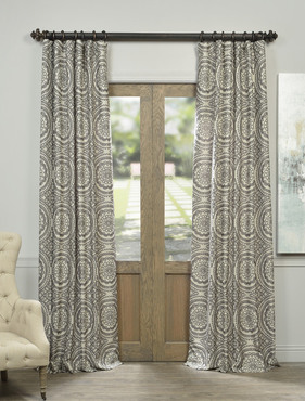 Radial Smoke Faux Silk Jacquard Curtain