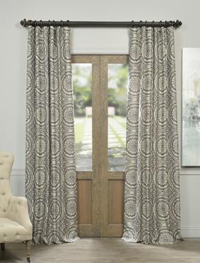Radial Smoke Faux Silk Jacquard Curtain