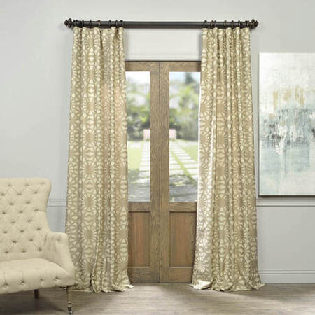 Trace Natural Jacquard Curtain