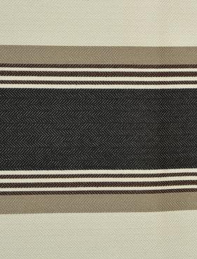 Black Liquorice Bold Horizontal Stripe Jacquard Swatch