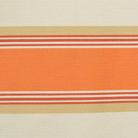 Creamsicle Bold Horizontal Stripe Jacquard Swatch