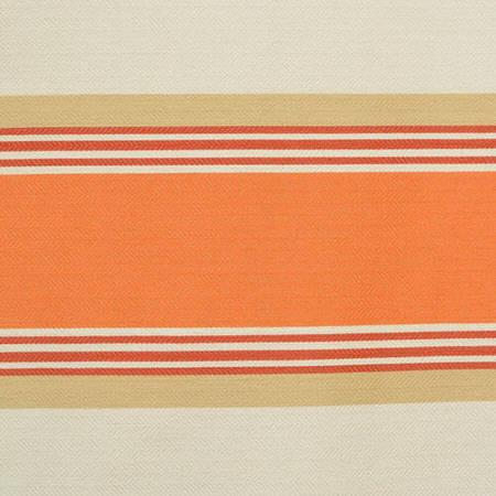 Creamsicle Bold Horizontal Stripe Jacquard Swatch