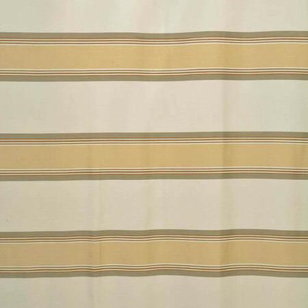 Crème Brulee Bold Horizontal Stripe Jacquard Swatch
