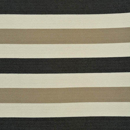 Black Liquorice Horizontal Stripe Jacquard Swatch