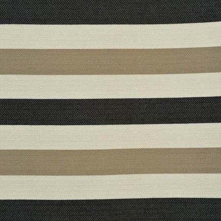 Black Liquorice Horizontal Stripe Jacquard Swatch