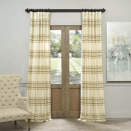 Creme Brulee Horizontal Stripe Jacquard Curtain