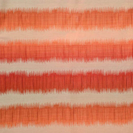 Fiery Sunset Horizontal Stripe Faux Silk Jacquard Swatch