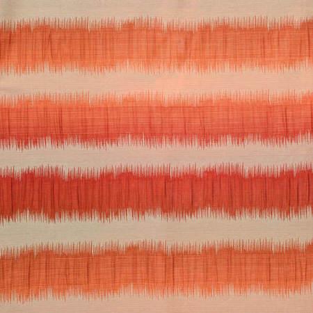 Fiery Sunset Horizontal Stripe Faux Silk Jacquard Swatch