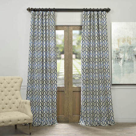 Royal Summit Faux Silk Jacquard Curtain