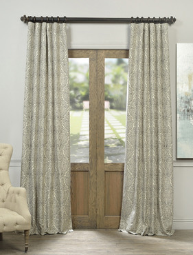 San Marco Faux Silk Jacquard Curtain