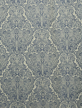 Ayr Blue Faux Silk Jacquard Swatch