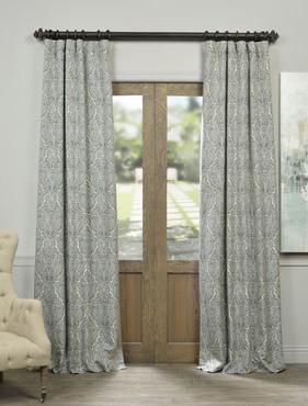 Saint Lucia Faux Silk Jacquard Curtain
