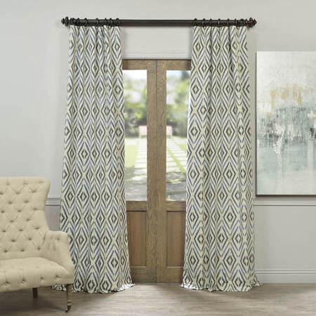 Maui Lagoon Faux Silk Jacquard Curtain