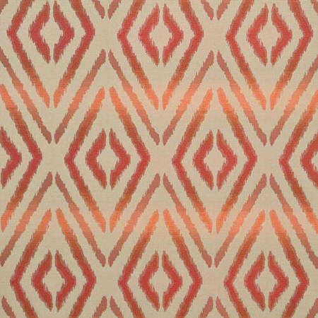 Dart Rust Faux Silk Jacquard Swatch