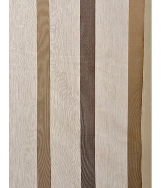 Carlton Taupe Linen Blend Stripe Sheer Swatch
