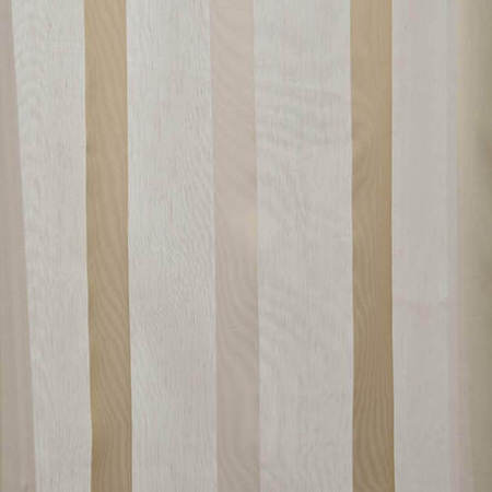Carlton Creme Linen Blend Stripe Sheer Swatch