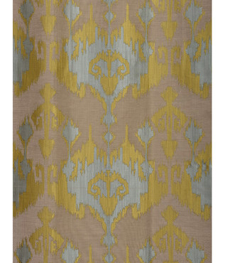 Borneo Blue Faux Silk Jacquard Swatch